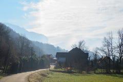 Inverno nell'area della Savoia in Francia del sud Immagini Stock Libere da Diritti