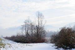 Inverno nell'area della Savoia in Francia del sud Fotografia Stock