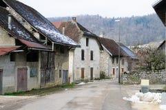 Inverno nell'area della Savoia in Francia del sud Immagini Stock