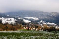 Inverno nell'area della Savoia in Francia del sud Immagine Stock