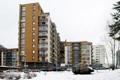 Inverno nella capitale del distretto delle colline di Bajoru della città della Lituania Vilnius Immagini Stock Libere da Diritti