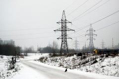 Inverno nella capitale del distretto di Seskine della città della Lituania Vilnius Fotografie Stock Libere da Diritti