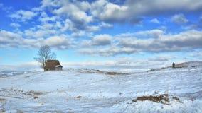 Inverno nella Transilvania Romania Immagini Stock Libere da Diritti