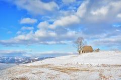 Inverno nella Transilvania Romania Fotografie Stock
