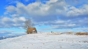 Inverno nella Transilvania Romania Immagini Stock