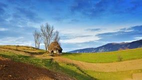 Inverno nella Transilvania Romania Immagine Stock