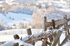 Inverno nella Transilvania Romania Fotografie Stock Libere da Diritti