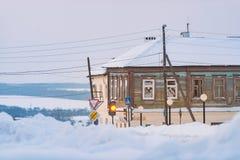 Inverno nella zona rurale della Russia fotografie stock