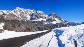Inverno nelle alpi austriache Fotografie Stock Libere da Diritti