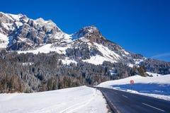 Inverno nelle alpi austriache Fotografie Stock