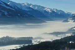 Inverno nelle alpi dell'Austria Immagine Stock