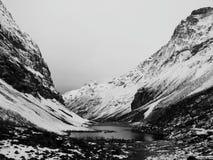 Inverno nelle alpi di Sunmore Fotografia Stock