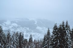 Inverno nelle alpi francesi Fotografia Stock