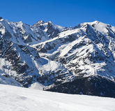Inverno nelle alpi francesi vicino a Chamonix-Mont-Blanc, Immagine Stock Libera da Diritti
