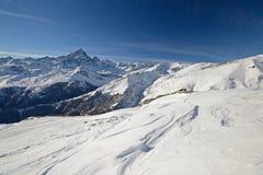 Inverno nelle alpi italiane sceniche Fotografie Stock