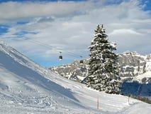 Inverno nelle alpi svizzere Fotografie Stock