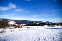Inverno nelle alpi svizzere, Svizzera Fotografia Stock