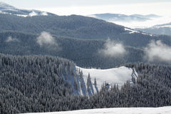 Inverno nelle montagne! Fotografie Stock