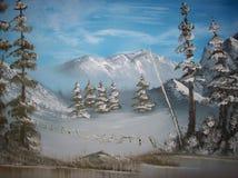 Inverno nelle montagne Royalty Illustrazione gratis