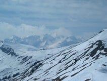 Inverno nelle montagne Immagini Stock