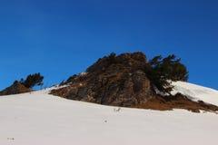 Inverno nelle montagne di Altai Fotografia Stock