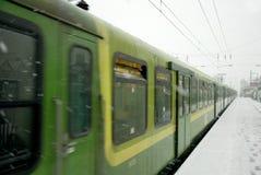 Inverno nevado em Dublin 02.2009 Foto de Stock Royalty Free