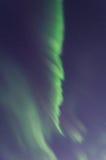Inverno, neve, aurora, aurora boreale, notte, stelle Fotografia Stock