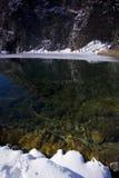 Inverno-neve nella sosta di Nationa dei laghi Plitvice Immagine Stock