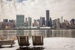 Inverno a New York City Immagini Stock