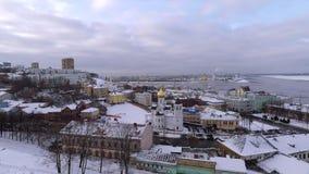 Inverno Nižnij Novgorod Russia video d archivio