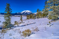 inverno no lago em Breckenridge, Colorado fotografia de stock royalty free