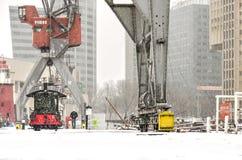 inverno no museu exterior marítimo foto de stock royalty free