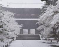 inverno no templo de Nanzenji Foto de Stock