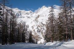 Inverno no vale de Rhemes Imagem de Stock Royalty Free