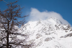 Inverno no vale de Rhemes Foto de Stock Royalty Free