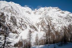 Inverno no vale de Rhemes Fotografia de Stock
