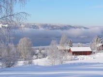 Inverno in Norvegia Immagine Stock