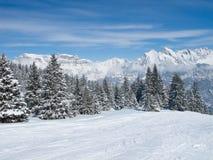 Inverno nos cumes Fotografia de Stock