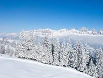 Inverno nos cumes Imagens de Stock