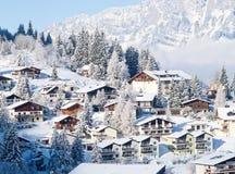Inverno nos cumes Foto de Stock Royalty Free