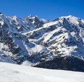 inverno nos cumes franceses perto de Chamonix, Imagem de Stock Royalty Free