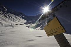 inverno nos Pyrenees Fotos de Stock