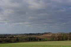 inverno nos Wolds de Lincolnshire, Reino Unido Imagens de Stock