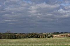 inverno nos Wolds de Lincolnshire, Reino Unido Imagem de Stock
