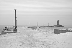 inverno o Lago Erie Foto de Stock Royalty Free