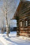 Inverno. País velho do russo fotografia de stock