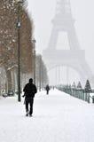 Inverno a Parigi Fotografia Stock Libera da Diritti