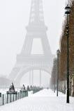 Inverno a Parigi Immagini Stock Libere da Diritti