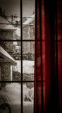 inverno pela janela Foto de Stock Royalty Free