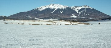 Inverno, picos de San Francisco Fotografia de Stock Royalty Free